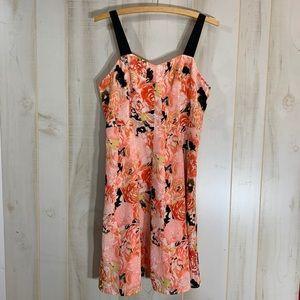 Candies Peach Floral Dress, Size 5